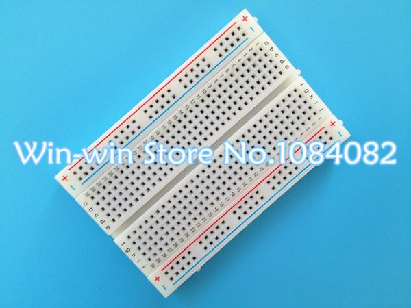 Al por mayor-1pcs Calidad mini pan board / breadboard 8.5CM x 5.5CM 400 agujeros