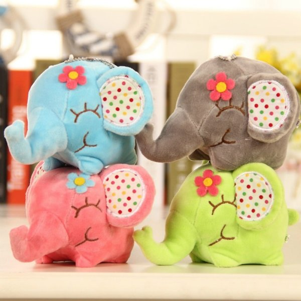 top popular Mini Lovely Elephant Stuffed Kids Baby Soft Plush Toy Kids 2020