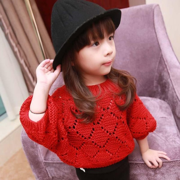 9d44e3c70cf Girl Dress Kids Pullover Knitted Sweaters Child Clothes Kids Clothing 2015  Autumn Crochet Sweater Kid Girls Tops Children Pullover Woolen Sweater ...