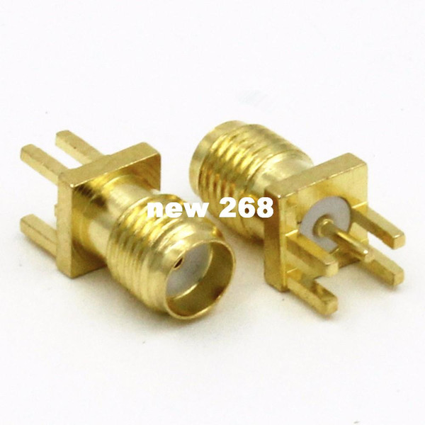 500pcs Gold SMA female nut bulkhead solder deck PCB clip edge mount RF connector