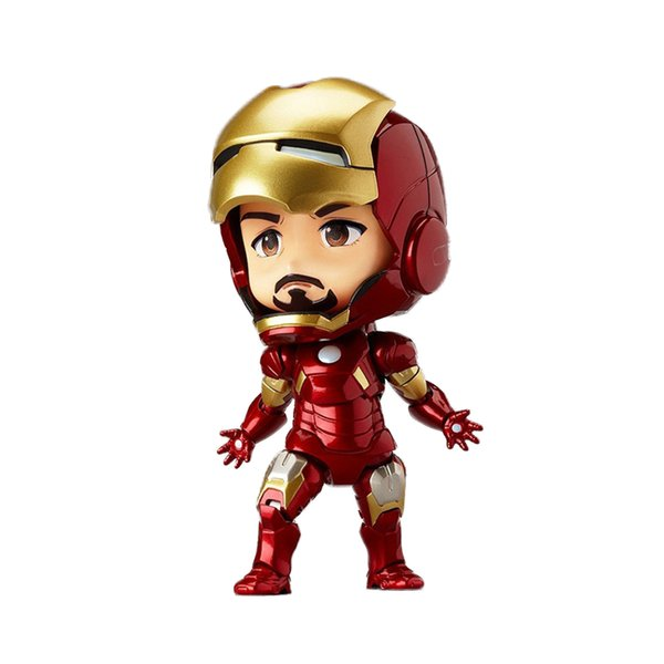 "Chanycore Gsc Nendoroid 505#Cute 4""Iron Man Mark 7Marvel Avengers Boxed Pvc Action Figure Model Collection Toy Gift"