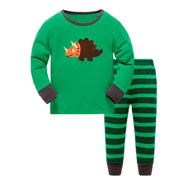 2017 ropa de los niños del algodón puro del comercio exterior para los pijamas de los niños calientes de la moda traje de la ropa en otoño invierno