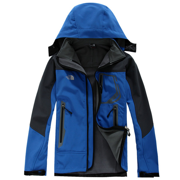 2017 Outdoor Winter Men's Hoodies SoftShell Jackets Fashion Apex Bionic Windproof Waterproof Thermal For Hiking Camping Ski Down Sports