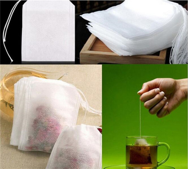 top popular Fashion Hot Empty Teabags Tea Bags String Heal Seal Filter Paper Teabag 5.5 x 7CM for Herb Loose Tea G185 2019