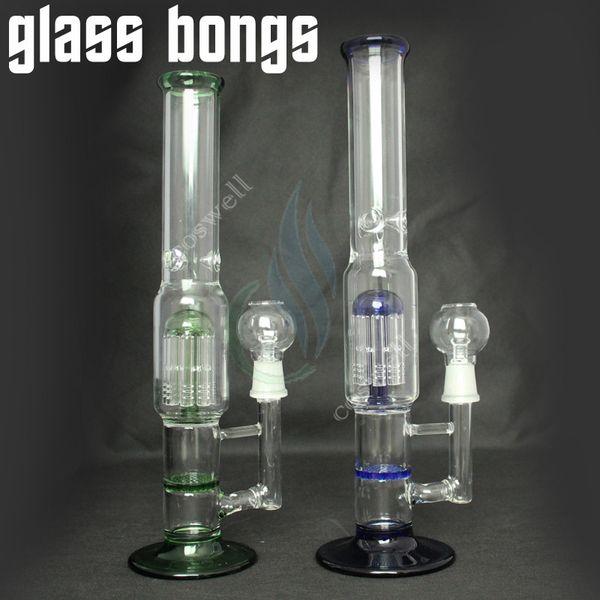 neue artikel glas bong wasserpfeifen glas bongs wasserpfeife rauchen flüssigkeit filter shisha honigkamm zwei funktion 9 Arm percolator glas nagel