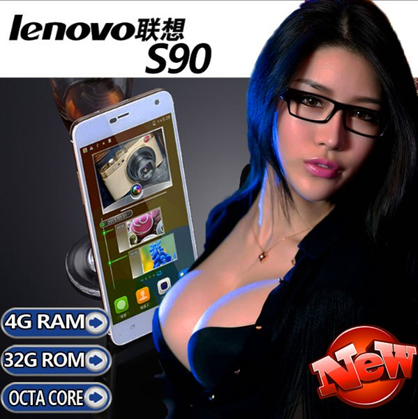 "Lenovo S90c PK S960 Phone MTK6592 Octa Core Android4.4 5.0"" HD 3G WCDMA GPS dual sim card 4G ram 32G Rom 13MP Camera unlocked mobile phone"