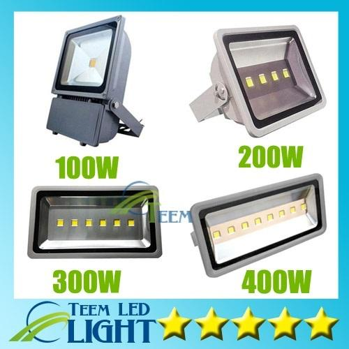 Ip65 Waterproof 100w 200w 300w 400w Led Floodlight Outdoor Project Lamp Led Power Flood Lights Warm Cool White 85 265v Super Bright Light 20 Led Flood