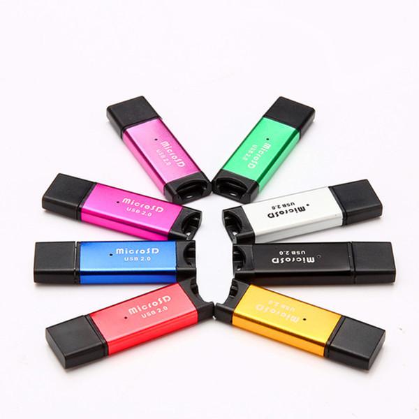 USB2.0 Micro SD lecteurs de cartes T-Flash M2 mémoire R4 lecteur de carte adaptateur 2 Go 4 Go 8 Go 16 Go 32 Go 64 Go lecteurs de cartes haute vitesse