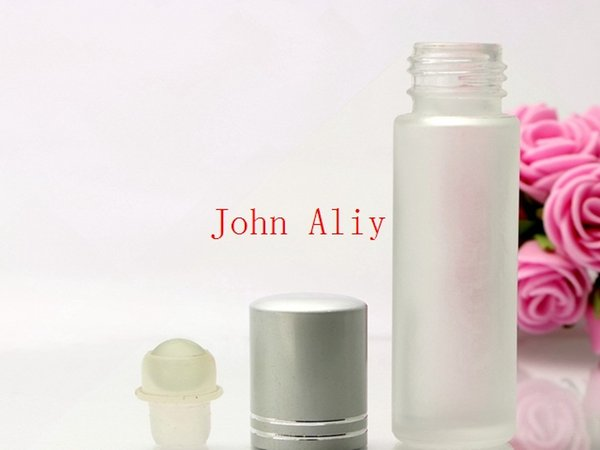 Wholesale 10ml 1/3oz Roll on Glass Fragrance bottle Frosted Empty Glass Perfumes Bottle Essential Oil bottles