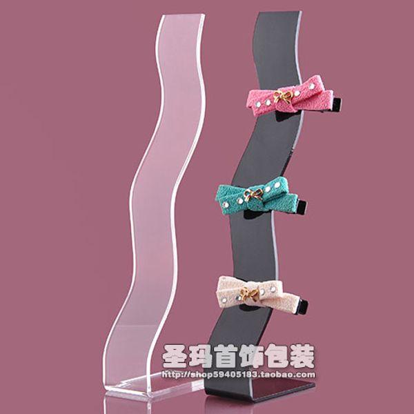 Freies Verschiffen-Acrylstirnband-Haarclip-Präsentationsständer S-förmige Haarnadelclipstand-Haarclip-Ausstellungsstandgroßverkauf 10 PC