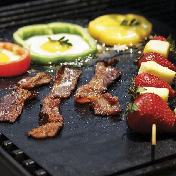 Non-Stick BBQ Grill Mat Thick Durable 33*40CM Gas Grill barbecue mat Reusable No Stick BBQ Grill Mat Sheet Picnic Cooking Tool KKA1849