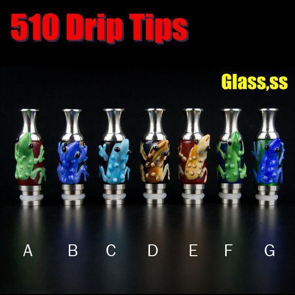 Vaso Style Drip Tips 510 Pyrex Glass Vape Bocchini con animale Fit Kanger Protank DCT EVOD FJ262