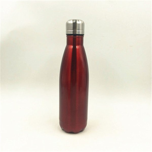 100 pcs Creative Water Bottle Cola Shaped 500ml Double Wall Stainless Steel 5 Color Cool Water Bottles Direct Factory Price