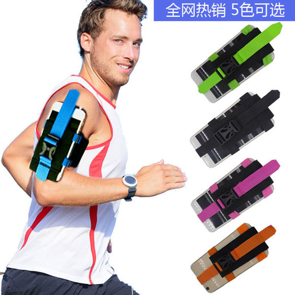 Universal GYM Arm Phone Armband Bag Holder Cases Outdoor Running Sport Strap Arm Band Bags Adjustable Cell Phone Belt Case