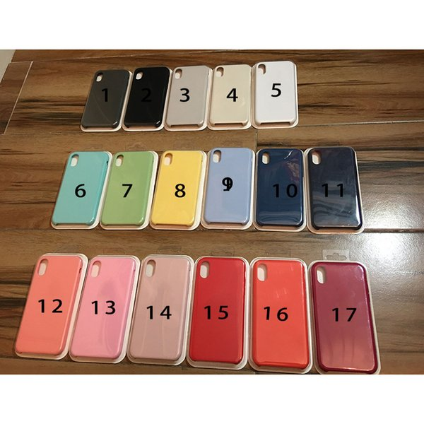 High Qulity Solid Silicone Case For iPhone XR/XS XSmax/7/7plus/6/6plus Samsung S9/S8/S8/S9plus note8/9 17 Color Optional With Retail Package