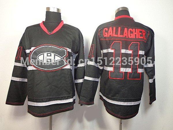eab5c2427 ... Cheap Mens Montreal Canadiens 11 Brendan Gallagher Jersey Dark RED  BLACK Third Lacing ...