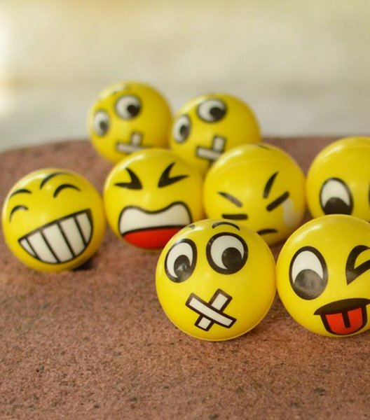 Emoji Splat Ball Stress Relief Toy Fun Party Bag Filler Fun Shape Squishy Gift