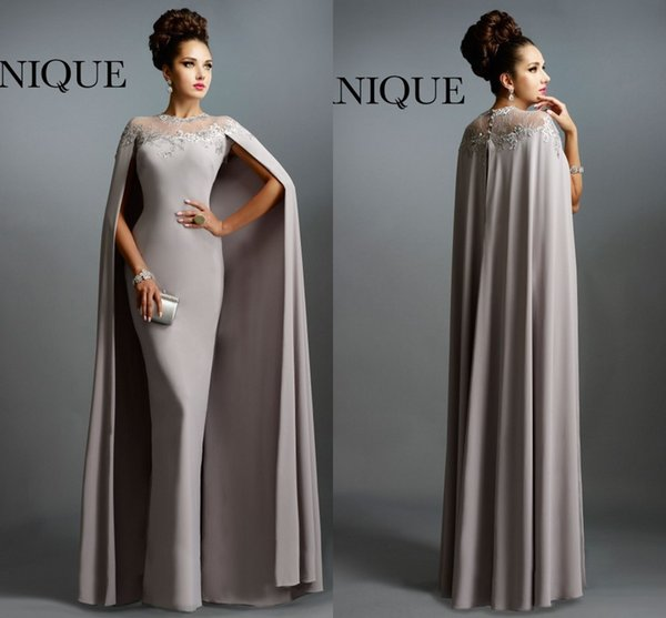 Sexy Formal Muslim Evening Dresses 2016 Janique Gray With Cape