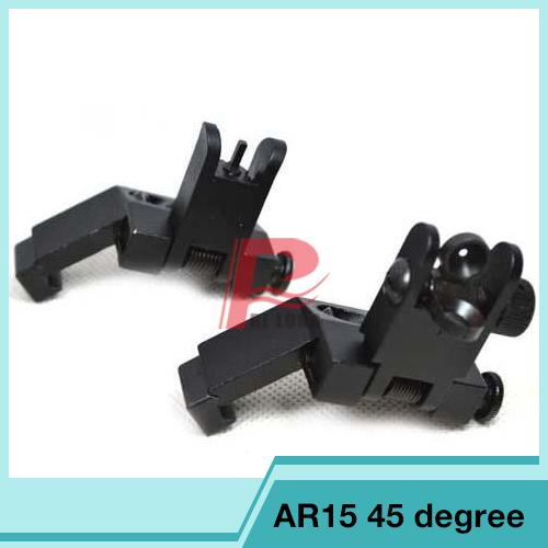 Hunting 45 Degree Front and Rear Flip up Rapid Transition Backup Iron Sight RL27-0004
