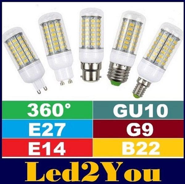 CE ROHS UL + G9 Led Bulbs Light Corn Lamp 24LEDs 36LEDs 48LEDs 56LEDs SMD5730 E27 E14 B22 GU10 Led Lights 360 Angle High Bright AC 85-265V