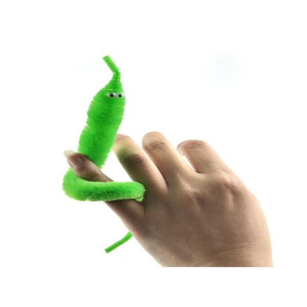 5 pz / lotto Magicians Toy Baralho Mr. fuzzy Magical Worm Trucco Magico Twisty Peluche Wiggle Animali di Peluche Strada Giocattolo Per I Bambini Regalo 21 cm