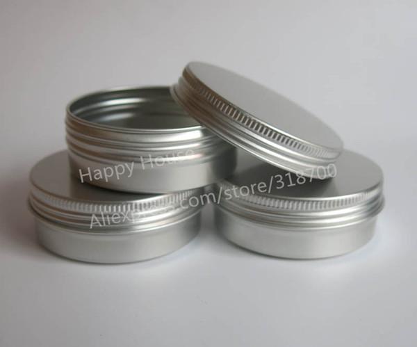 Бесплатная доставка - 50 x 60 г алюминиевая банка, металлическая банка для использования крем-порошка геля, 2 унции косметические бутылки, 60 мл алюминиевый контейнер