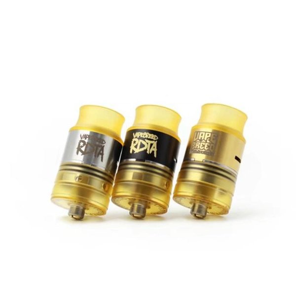 Vapebreed Style RDTA Black SS Gold PEI Replaceable Atomizers with 24mm Diameter for 510 Thread Vape Mods High quality Hot sale DHL free
