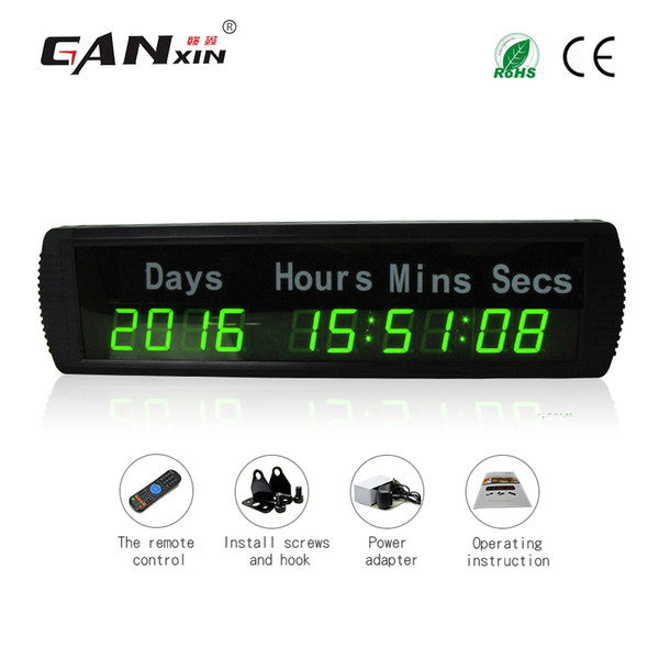 [GANXIN]1.8'' 10 Digit Plus Led Timing Digital Clock 9999 DAY Display Clearly Countdown Clock Fight Wall Timer