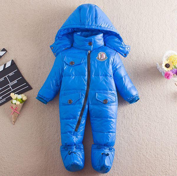 90c8e01d4 Winter Newborn Boys Bodysuits Baby Turtleneck Down Coats Girl ...