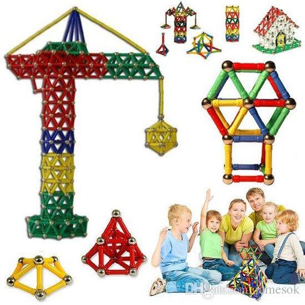 best selling 103pcs Magnetic Toys Sticks Building Blocks Set Kids Educational Toys For Children Magnets Christmas Gift b971