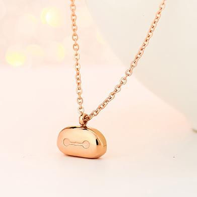 Fashion bear pendant personality titanium steel dubai gold jewelry design china jewelry chain Pendant Necklace for women colgante, collar