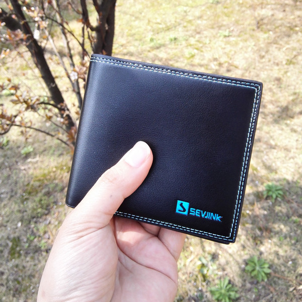 Wholesale-Men's luxury boutique brand wallet , fashion solid color Mens leather wallet , men's business clutch bag , free shipping