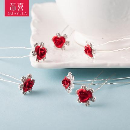 top popular Free Shipping In Stock Clear U Shape Crystal Wedding Bridal Hair Pin Hair Fashion Bridal Clip Hair Accessories 2021