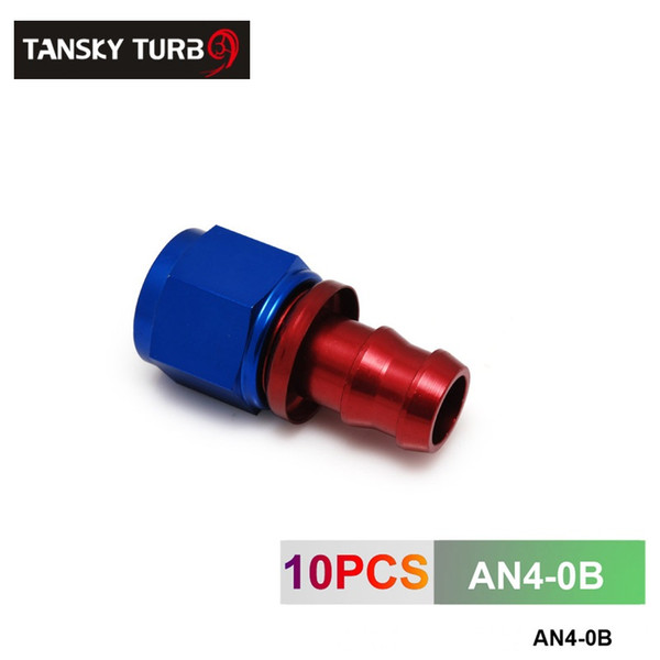 TANSKY - 4AN AN4 4-AN STRAIGHT SWIVEL OIL/FUEL/GAS LINE HOSE END PUSH-ON MALE FITTING AN4-0B