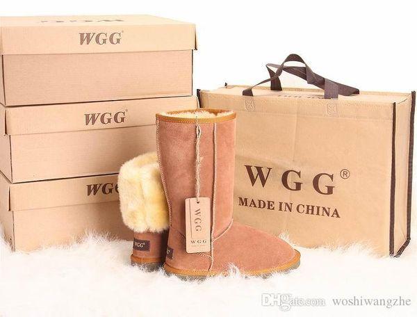 Hautes bottes classiques de haute qualité pour femmes WGG Bottes de neige pour femmes
