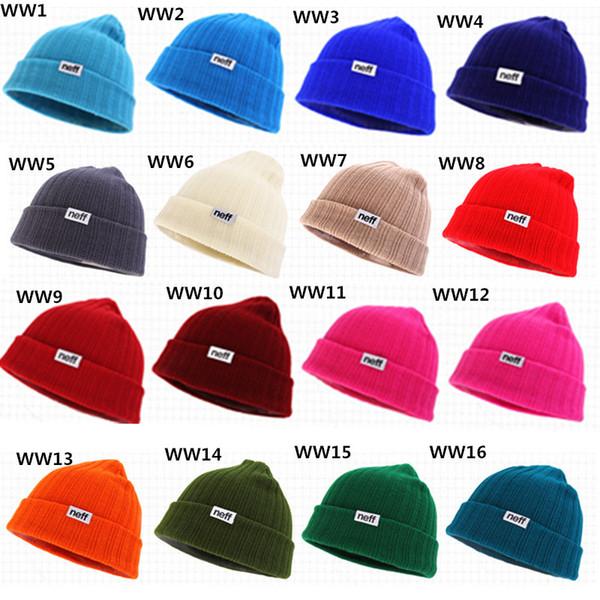 22 Colors Neff Winter Beanies Cap Men Women Knitted Cap Bboy 2015 Beanies Hiphop Sport Baseball Fans Cap