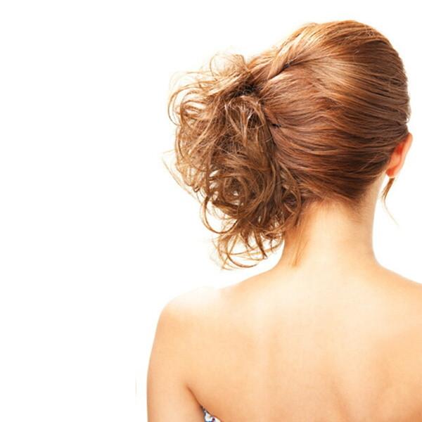 Capelli sintetici in fibra ad alta temperatura cravatte capelli ricci scrunchie capelli coda di cavallo multi-way updo accessori per capelli