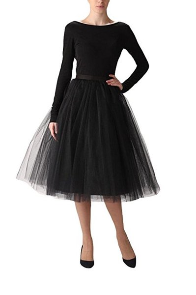 Fashion Color Short A-Line Tutu Tulle Muiti-Color Party Prom Skirt Petticoat Half Slip Underskirt Stock Cheap Free Shipping