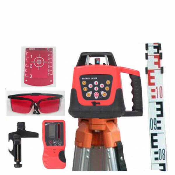 Wholesale HIGH QUALITY RED BEAM ELECTRONIC SELF-LEVELING ROTARY ROTATING LASER LEVEL 500M RANGE AUTOMATIC +TRIPOD+STAFF NEW