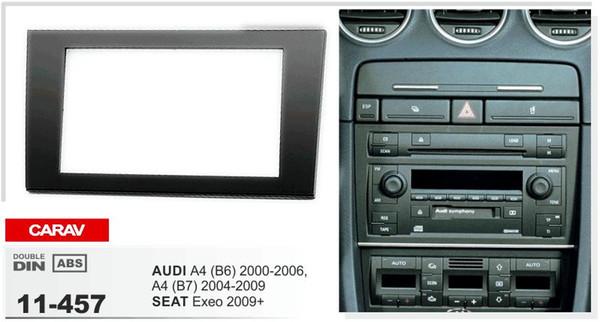 CARAV 11-457 Top-Qualität Radio Fascia für AUDI / SEAT Stereo Fascia Dash CD Trim Installation Kit