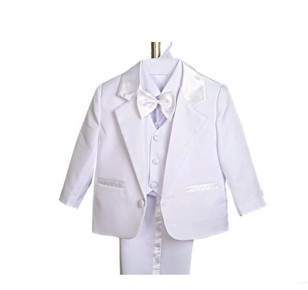 Handsome little boys suits fashion three-piece boys formal occasion suits fashion boys wedding suits (jacket+pants+vest+bow tie)