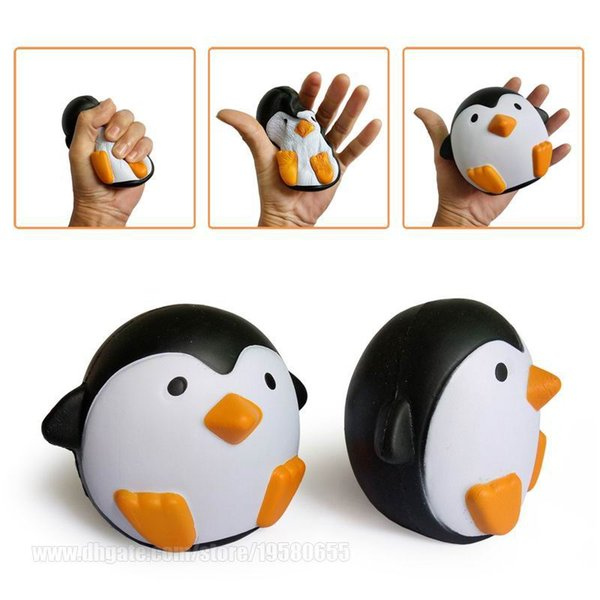 top popular Penguin Squishy Decompression Perfume Toy Simulation Relax Pretty Decor Spicy Jumbo Slow Rising Squishies S DHL Free Shipping SQU005 2021