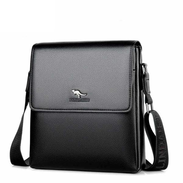 2017 nova chegada maleta mens bolsa de couro pu moda messenger bags homens grande capacidade laptop bag frete grátis