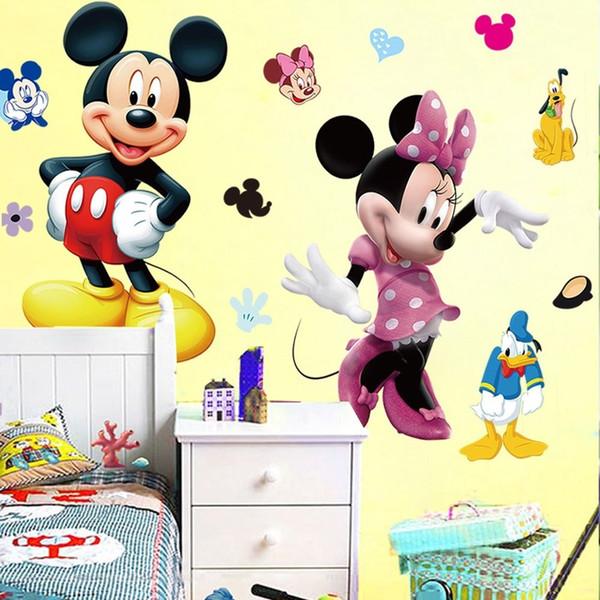 Vinilos Mickey Mouse Para Pared.Compre Mickey Mouse Minnie Vinilo Mural De La Pared De La Etiqueta Engomada De La Decoracion Del Sitio Del Cuarto De Los Ninos A 9 7 Del