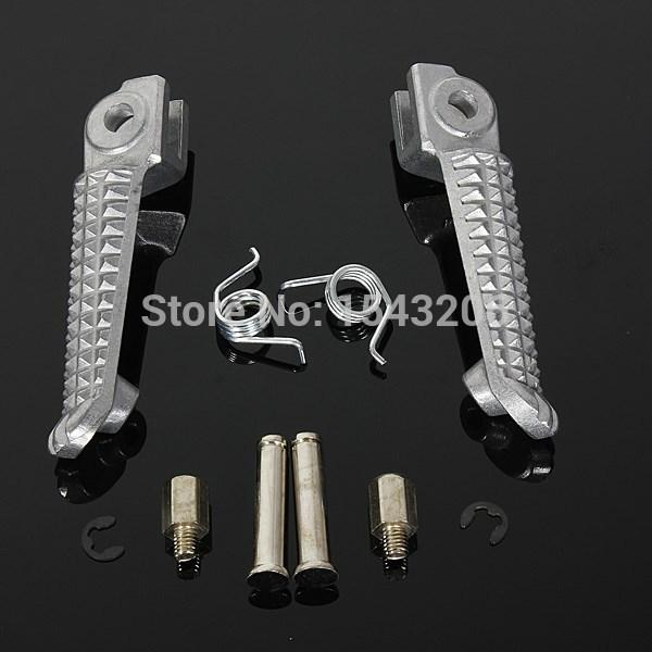 top popular Chrome Footrest Foot Pegs Front Left & Right For Yamaha 198-2011 YZF R1 99-2011 R6 order<$18no track 2019