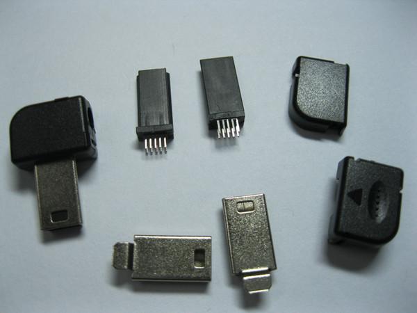 top popular Mini 10 Pin USB Male Plug For Philips Right Angle 100 pcs per lot hot sale 2021