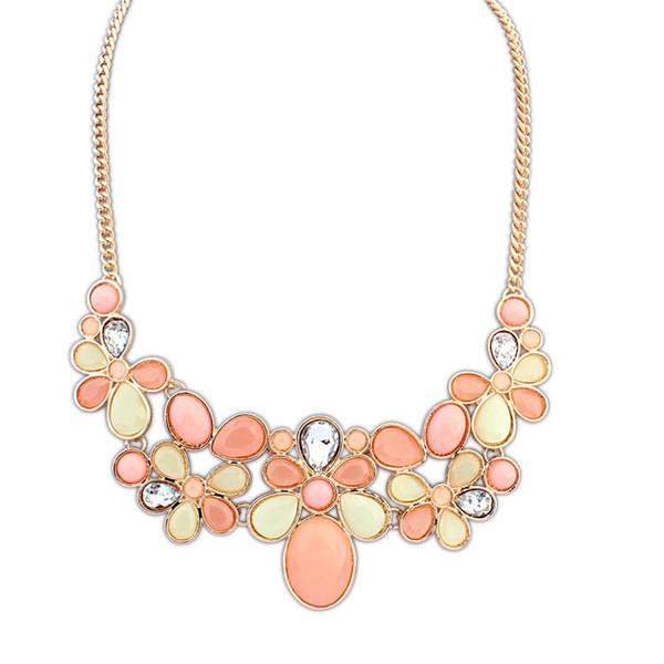 2016 New Fashion Shourouk Chain Choker Vintage Rhinestone Statement Necklaces Pendants Women Jewelry
