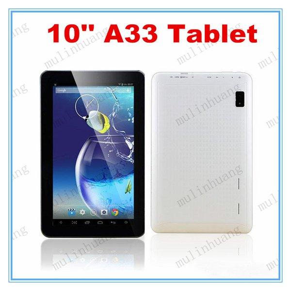 Tablet PC quad core da 10 pollici A33 X30 Android 4.4 1 GB di RAM 8 GB di ROM Wifi Dual Camera ARM Cortex A7 1.5 GHz Schermo di capacità HD 10.1 10.2
