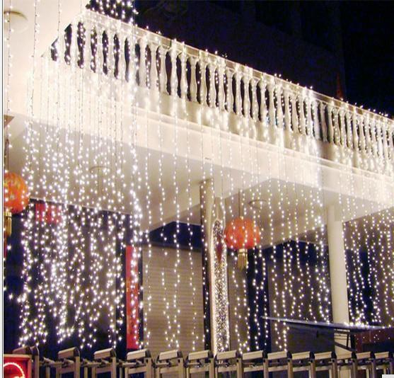 8M* 4M water falls waterproof lamp 1024 led holiday lights series of wedding wedding background light decorate window decoration