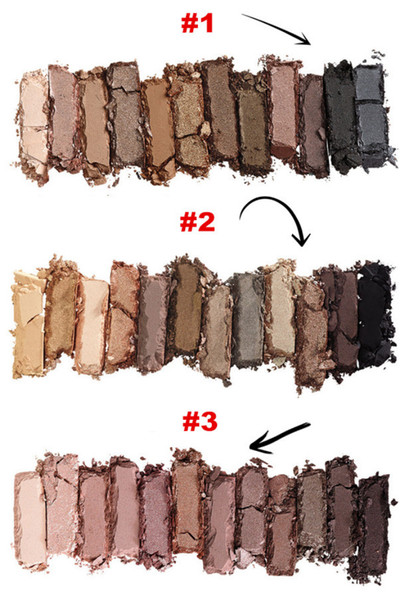 top popular Makeup In Stock NUDE Eye shadow Palette Makeup EyeShadow Palette (1 2 3) 12 Color Eyeshadow 3 versions Iron Box With Brushes 2020